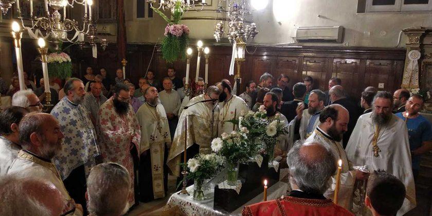 Εσπερινός της εορτής των Αγίων Πάντων, γεμάτη και αυτή τη χρονιά η εκκλησία μας