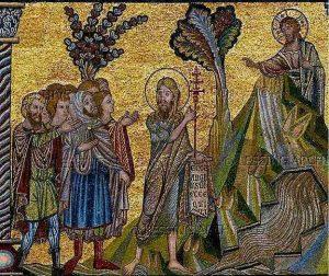 John points to the Lamb of God