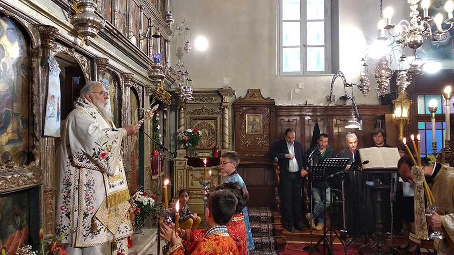 Photo of Η Θεία Λειτουργία στο ναό μας 24.3.2019