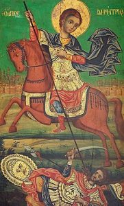 220px St Demetrius At Mt Athos, Museum Of Russian Icons, Clinton, Mass