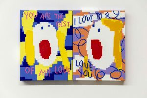 Maja Djordjevic You Are The Best Of My Love I Love To Love You 2019 Oil And Enamel On Canvas 80 X 60 X 3 Cm 40 X 30 X 3cm Each Min 1 Scaled