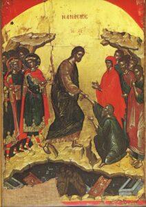 Η Ανάστασις Θεοφάνης ο Κρης 16ος αι. Μονή Σταυρονικήτα Αγ. Όρους