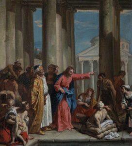 Sebastiano Ricci 1659 1734 Christ Healing the Lame Man at the Pool of Bethesda 541105 National Trust